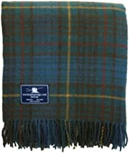 Antique Hunting Stewart Tartan Premium Wool Throw