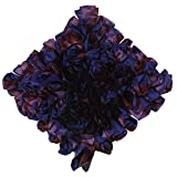 Mahalaxmi Furnishings Purple Flower Cushion Cover (Color: Purple Shade, Size: 40 CM X 40 CM )