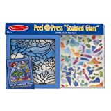 "Melissa And Doug Peel And Press ""Stained Glass"" Undersea Fantasy"