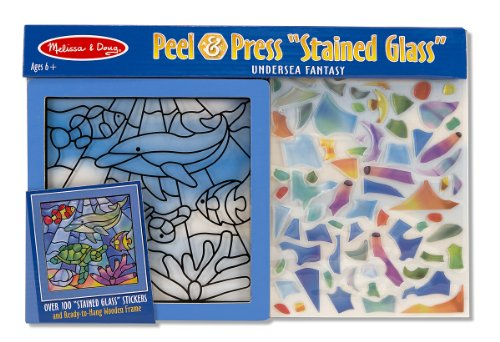 "Melissa & Doug Peel & Press ""Stained Glass"" Undersea Fantasy"