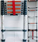 DP DESIGN® Aluminium Telescopic Extending Ladder 2.6 m