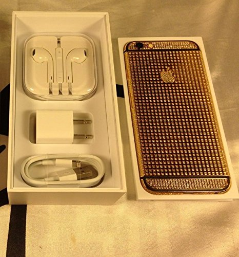 BS2U discount duty free Apple iPhone 6 - 64GB 24K 24CT Gold Plated Full Diamond Crystals Edition Factory Unlocked/International/Black Stripe