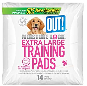OUT! Moisture Lock Extra Large Dog Training Pads, 14 Count