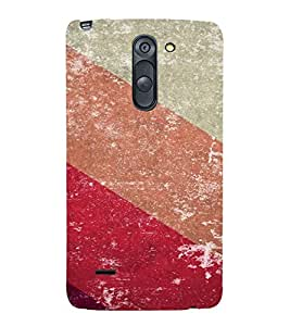 PrintVisa Colorful Stripes Pattern 3D Hard Polycarbonate Designer Back Case Cover for LG G3 STYLUS