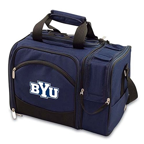 Collegiate - Malibu Insulated Cooler Tote Byu Cougars/Navy/Embroidered front-618135