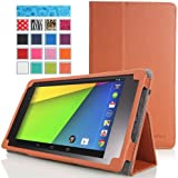 Google New Nexus 7 FHD 2nd Gen Case - MoKo Slim Folding Cover Case for Google Nexus 2 7.0 Inch 2013 Generation Android 4.3 Tablet, BROWN (with Smart Cover Auto Wake / Sleep Feature)