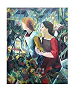 Especial Arte Lienzo Zwei Mädchen anagoria - Macke August Multicolor