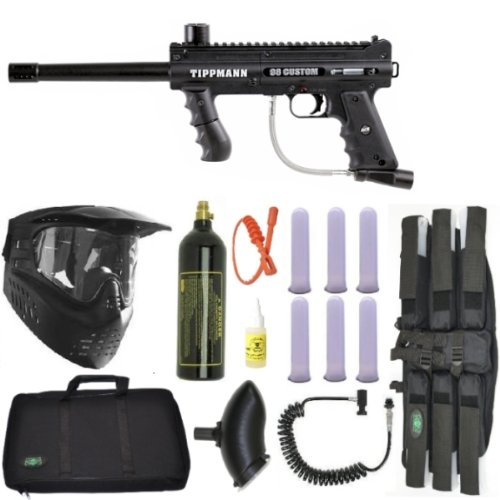 Tippmann 98 Custom PS ACT Paintball Marker Gun 3Skull Sniper Set