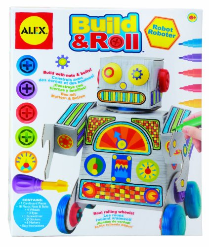 ALEX Toys Craft Build & Roll Robot - 1