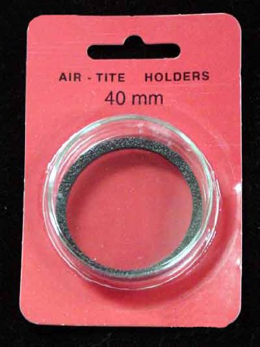 "Air-Tite ""I"" Black Ring Coin Holder for 40mm Coins"