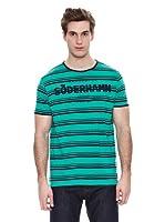 Springfield Camiseta S3 Stripes Cadeneta (Verde / Negro)