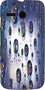 Snoogg Abstract Water Bubbles Designer Protective Back Case Cover For Motorol...