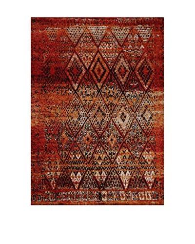 Chic Orange Teppich Marokko bordeaux 80 x 150 cm
