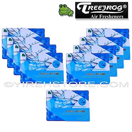 9 Packs TreeFrog FRESH BOX MINI (aka Xtreme Fresh Mini) Fresh Squash Scent Premium JDM Air Freshener