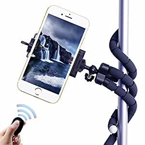 Selfie Tripods, HC 3 in 1 Flexible Octopus Cell Phone Camera Selfie Stick Stand Tripod Mount Adapter Portable Bluetooth Remote Shutter for iphone Samsung other Smartphones
