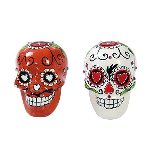 Day of the Dead Sugar Skull Red & White Set