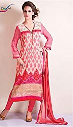 Deepaakshi Woman's georgette straight unstiched dress material
