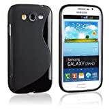 2010kharido S Line TPU GEL Silicone Rubber Soft Case For Samsung Galaxy Grand I9082 Black