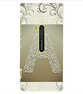"""ColourCraft Alphabet """"A"""" Design Back Case Cover for NOKIA LUMIA 920"""