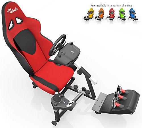 Openwheeler Racing Wheel Stand Cockpit Red/Black | For Logitech G29 | G920 and Logitech G27 | G25 | Thrustmaster Wheels | Racing wheel & controllers NOT included