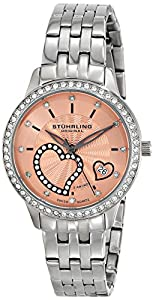 Stuhrling Original Women's 739.03 Amour Aphrodite Elite Analog Display Swiss Quartz Silver Watch