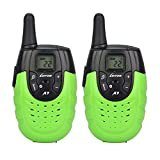 LUITON A7 Mini FRS GMRS Walkie Talkie Toy Gift for kids Long Distance Two-Way Ham Radio with Rechargable Lithium Battery Interphone for Outdoor Activities (Green)(Pair)