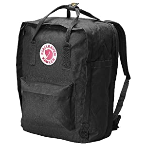 Fjallraven Kanken Backpack, Black, 17-Liter