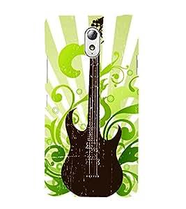 Vintage Floral Guitar 3D Hard Polycarbonate Designer Back Case Cover for Lenovo Vibe P1M