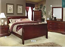 Big Sale Coaster Coaster Louis Philippe King Size Sleigh Panel Bed in Cherry