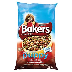 Bakers Complete Puppy and Junior with Tasty Beef and Country Vegetables 12.5 kg
