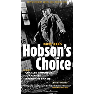 Amazon.com: Hobson's Choice [VHS]: Charles Laughton, John Mills ...
