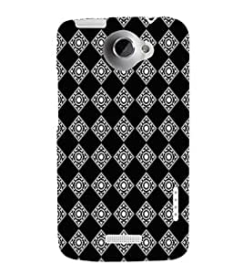 EPICCASE bedazzled diamond Mobile Back Case Cover For HTC One X (Designer Case)