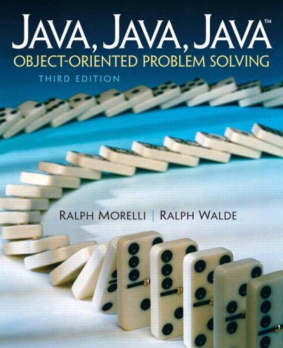 Large book cover: Java, Java, Java: Object-Oriented Problem Solving