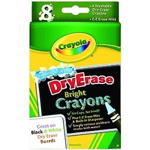 Crayola 8ct Dry Erase Crayons Large Size