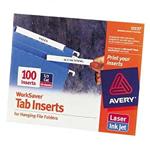 avery laser inkjet hanging file folder. Black Bedroom Furniture Sets. Home Design Ideas