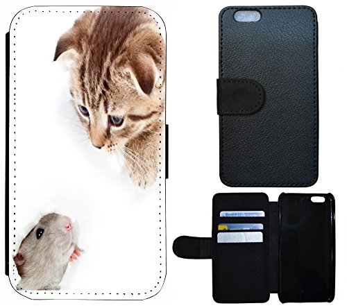 flip cover schutz h lle handy tasche etui case f r apple iphone 4 4s 1096 katze und maus. Black Bedroom Furniture Sets. Home Design Ideas