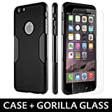 iPhone 6 Case, Black With [Tempered Glass Screen = Best LCD Protector] [Patented Lens Hood = Better Pictures] - Slim iPhone 6 Cases by Sahara Case