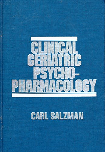 Clinical Geriatric Psychopharmacology PDF