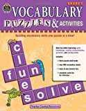 Vocabulary Puzzles & Activities, Grade 5 (1420680773) by Teacher Created Resources