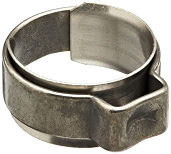Oetiker 154 Series Stainless Steel Hose Clamp with Insert, One Ear