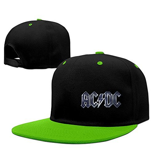 Cool AC/DC Rock Baseball Cap KellyGreen