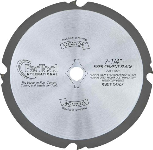 PacTool International SA707 7-1/4 Fiber Cement Saw Blade