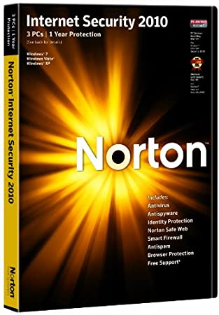 Norton Internet Security 2010 - 1 User 3 Computers (PC CD)