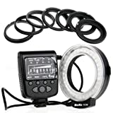 Meike LED Macro Ring Flash FC100 For Canon Camera DSLR Canon EOS 1D/ 1Ds Series 7D/5D MarkII/60D/50D/40D/30D/20D/10D 550D/500D/450D/400D/350D/300D