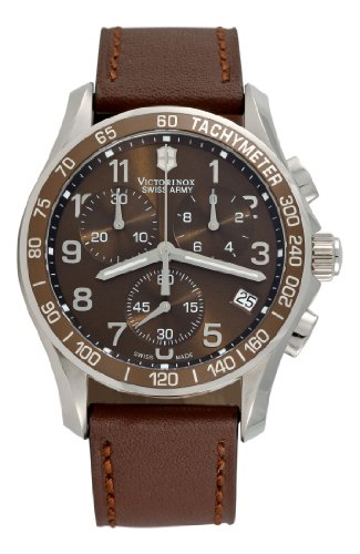 Victorinox Swiss Army Men&#8217;s 241151 Chrono Classic Brown Dial Watch