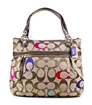 Hot Sale Coach Poppy Embroidered Signature C Glam Tote Shoulder Bag Purse