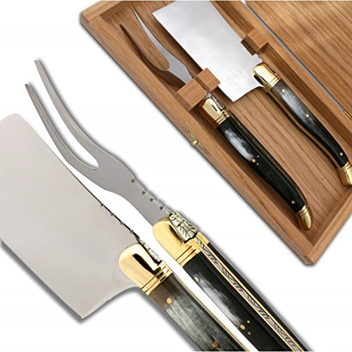 Laguiole Cheese knife set Black Horn Handle direct from France ultra loud bicycle air horn truck siren sound 120db