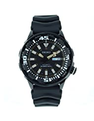Seiko Men's SRP231 Rubber Analog with Black Dial Watch