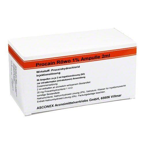 PROCAIN RÖWO 1% Ampullen 2 ml 100 ml Ampullen