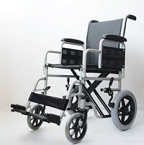 Carrozzina pieghevole da transito PMN EXTREME TR sedia a rotelle seduta cm. 43